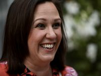 Texas Democratic Senate hopeful MJ Hegar, shown campaigning at Los Vaqueros in Fort Worth last Sunday, and her allies may have at least matched the financial firepower of incumbent Republican U.S. Sen. John Cornyn for an end-of-campaign ad barrage. One expert, though, questions if the TV spots have come too late.