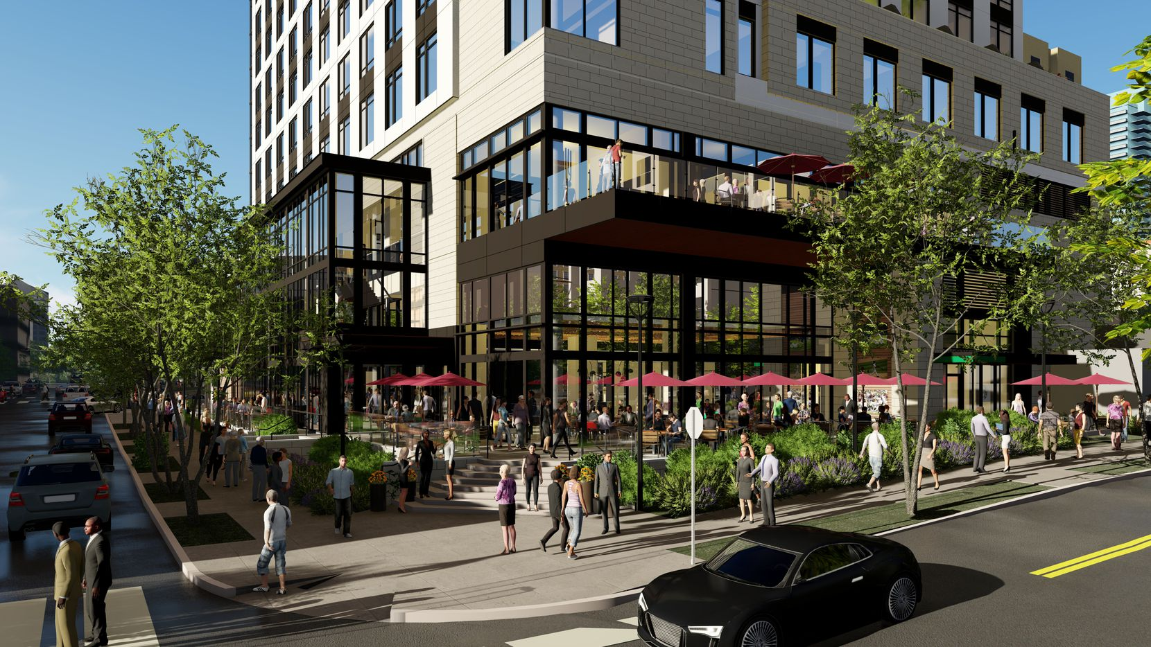 The new hotel will have a ground-floor restaurant.