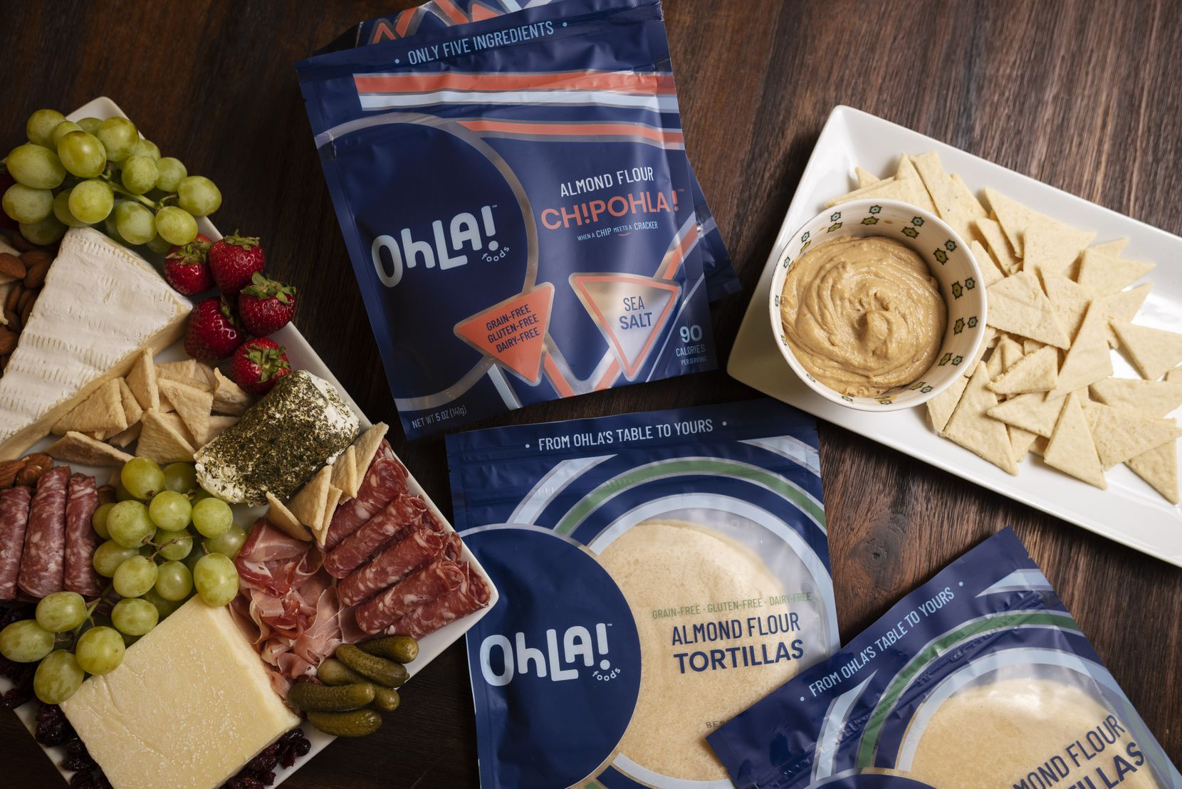 Schwalb's products include almond flour tortillas and sea salt chips.