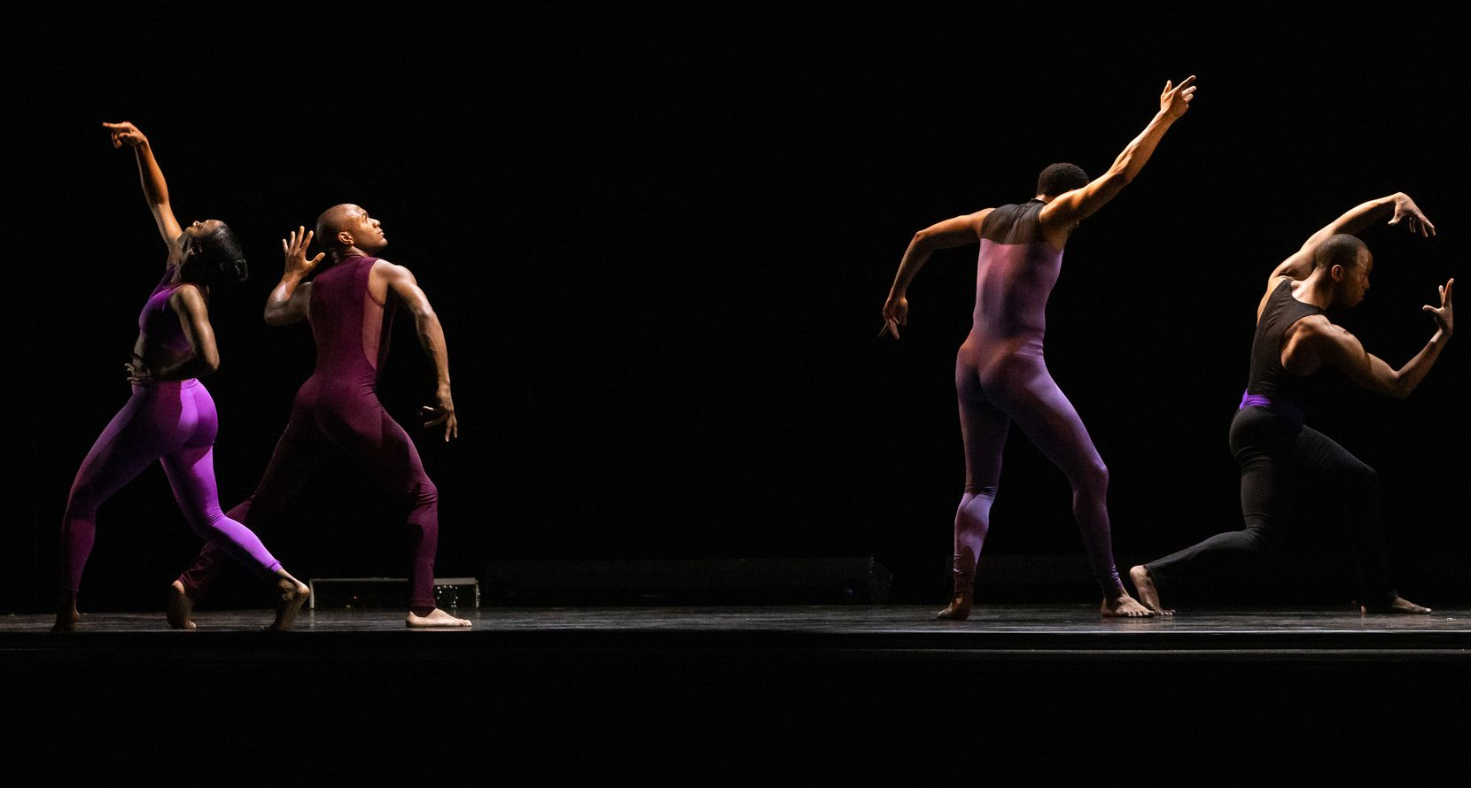 """Dallas Black Dance Theatre performs """"Execution of a Sentiment"""" during """"Together We Dance"""" at Annette Strauss Square on Friday, March 26, 2021."""