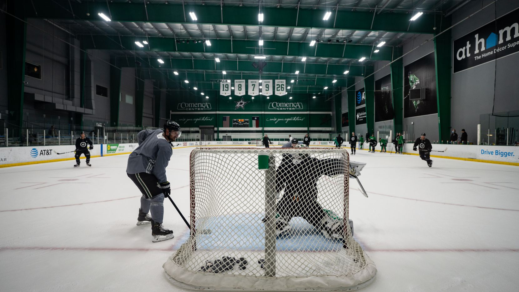 The Dallas Stars opened postseason training camp at the Comerica Center, Monday July 13, 2020 in Frisco, Texas. The Dallas team was together in the same building for the first time Monday since the NHL went on hiatus due to the coronavirus pandemic.