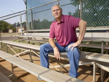 MLB scout Mike Grouse poses for a photo at the Holy Spirit Catholic Church baseball field on Aug. 21, 2020, in Lubbock.