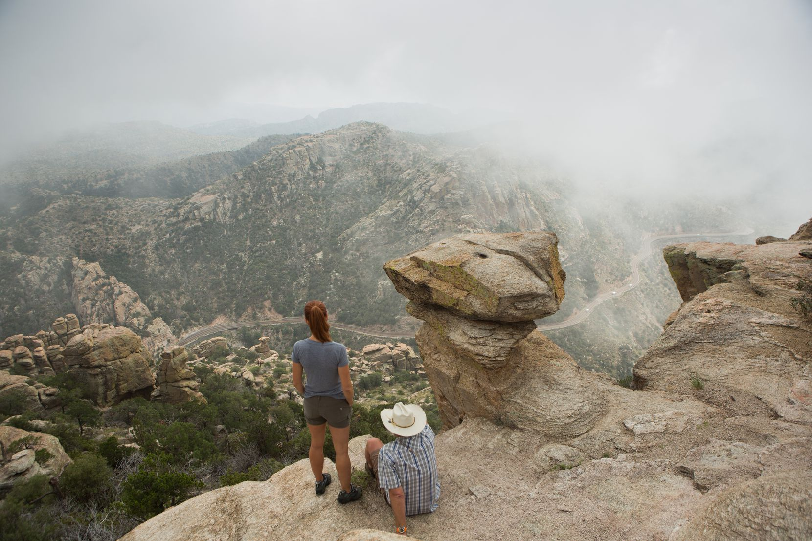 The Arizona National Scenic Trail takes travelers to Mount Lemmon in southern Arizona. With an elevation of 9,159 feet, its peak is the highest point in the Santa Catalina Mountains.