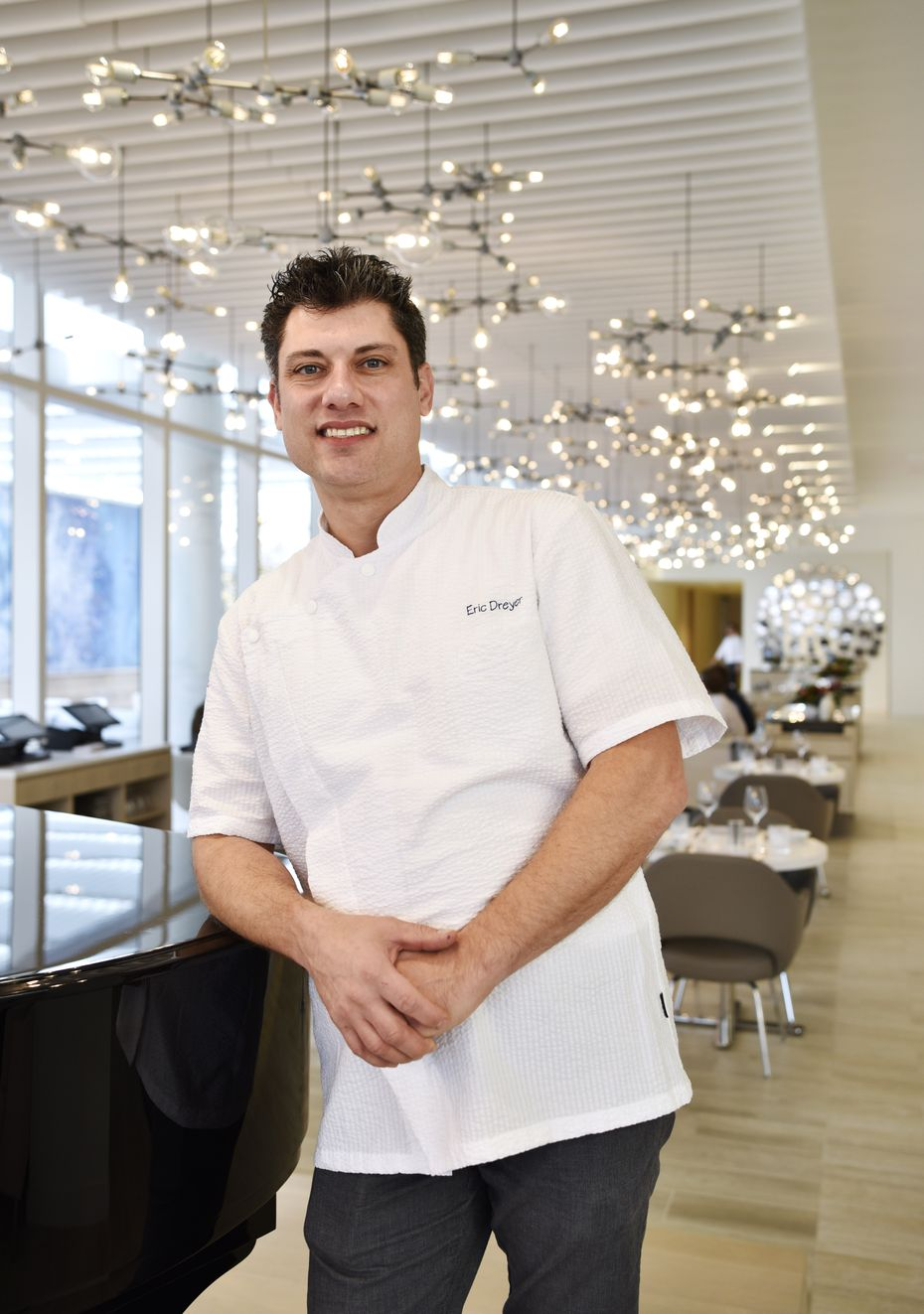 Chef Eric Dreyer worked at Ellie's, at Fearing's, and for Oprah Winfrey in the past few years. His newest job is at Monarch, a high-profile restaurant opening in downtown Dallas in 2021.