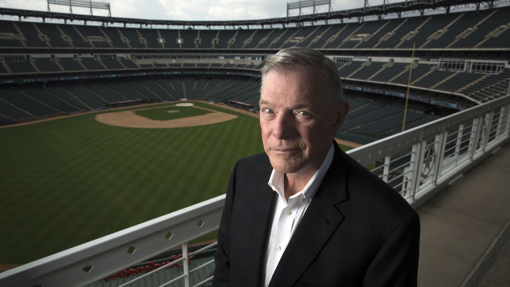 Ray Davis, co-owner and co-chairman of the Texas Rangers, photographed Wednesday, April 1, 2015 at Globe Life Ballpark in Arlington, Texas. (G.J. McCarthy/The Dallas Morning News)