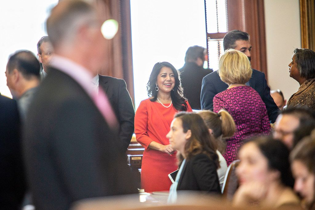 State Rep. Victoria Neave seen on the House floor just before Sine Die at the State Capitol of Texas on May 27, 2019 in Austin, Texas.
