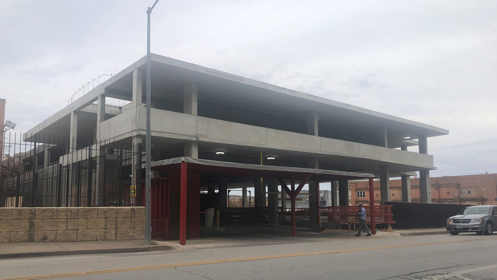 The parking garage at Harwood and Commerce streets in downtown Dallas where a woman was attacked in the early morning on Sept. 21, 2019.