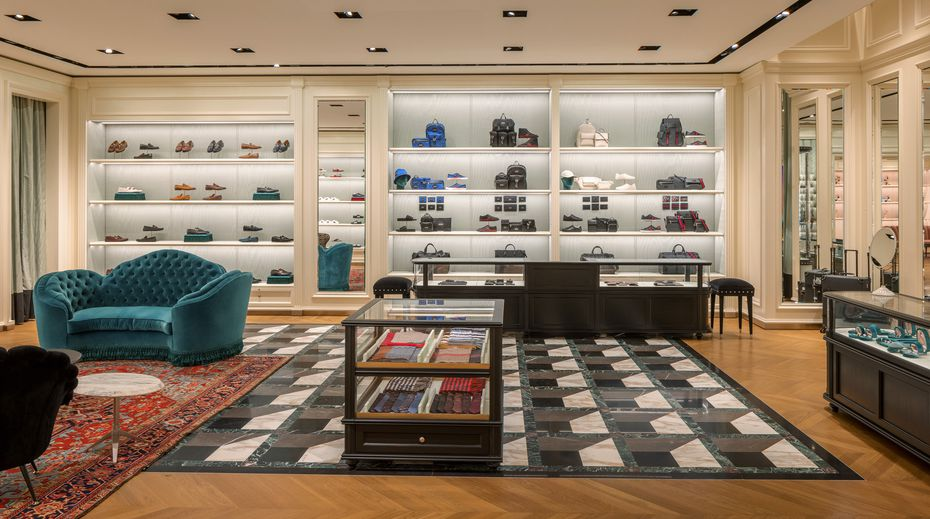 Interior of the new Gucci store in Plano's Legacy West.