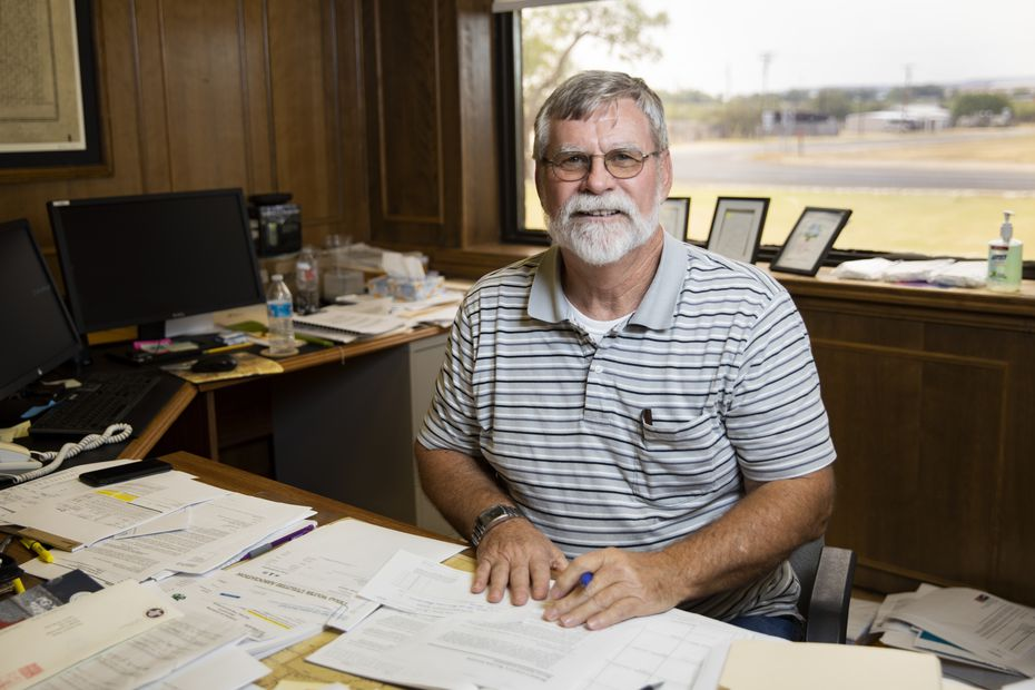 Borden County Judge Ross Sharp poses for a photo at his office in Gail on Aug. 17, 2020. There have been no reported cases of the coronavirus in Borden County.