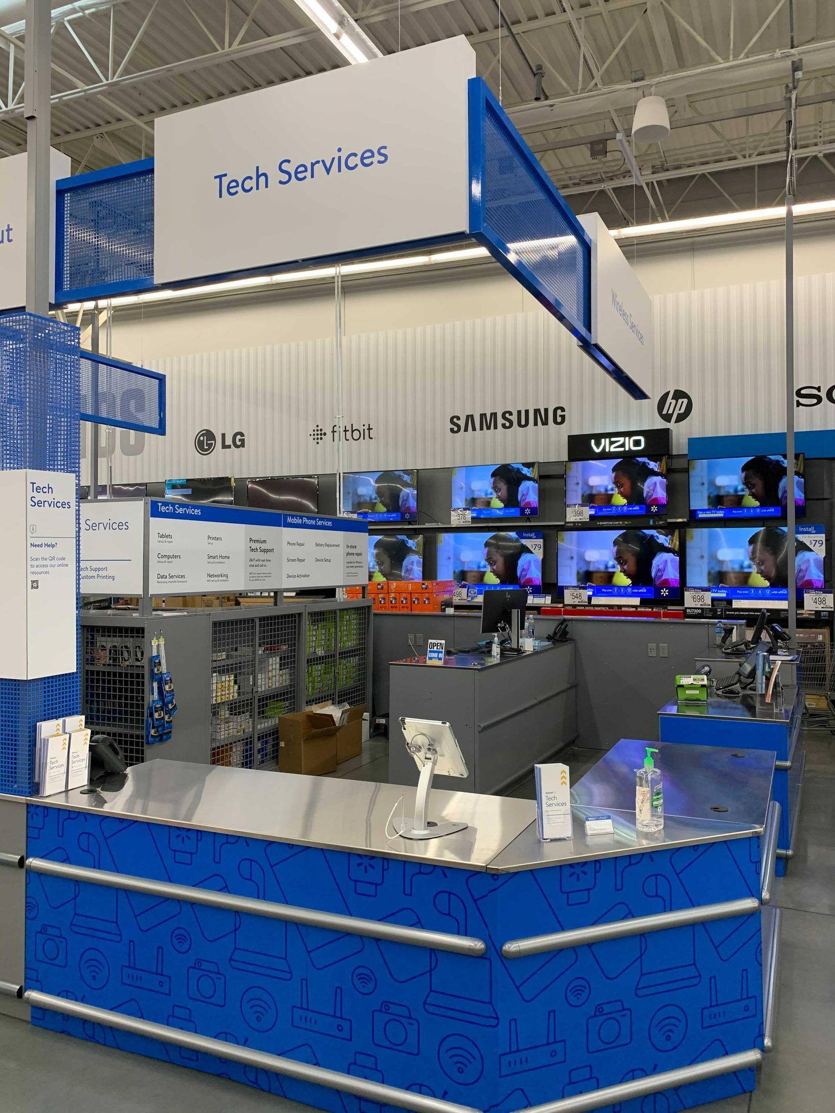 Walmart is using four Dallas-area stores to pilot a Tech Services kiosk program.