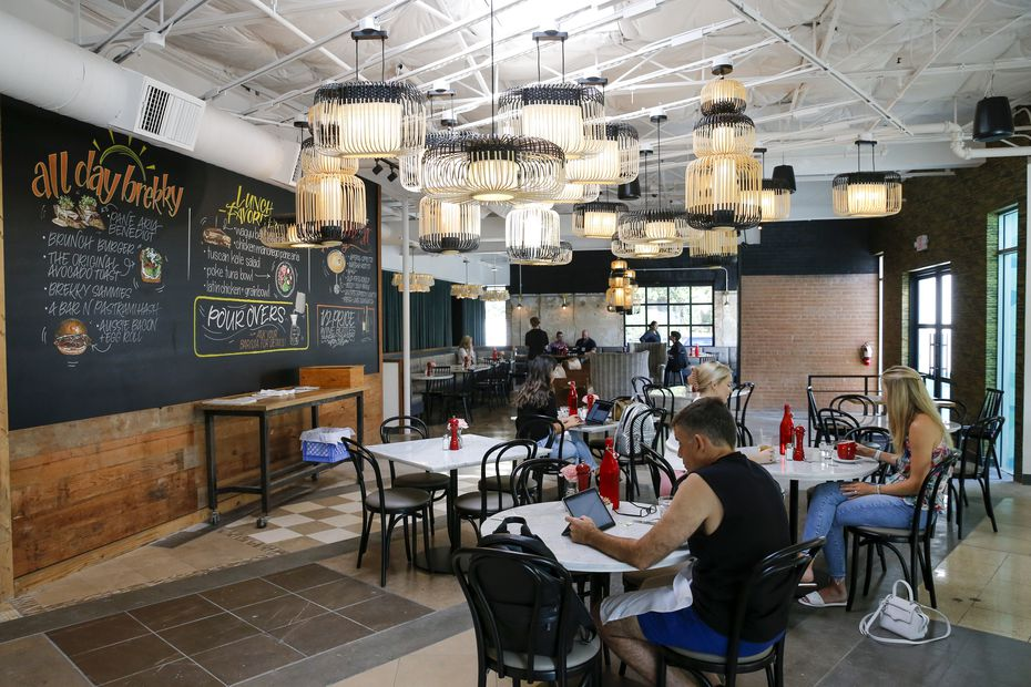 Whereas the original Ascension Coffee in the Dallas Design District used to be an oddly-shaped small room, the team has taken over the neighboring suite and reopened the shop as a spacious restaurant with new food.