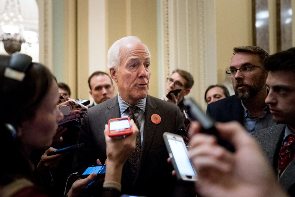 Texas Sen. John Cornyn has warned President Donald Trump against declaring a national emergency as a way to bypass Congress to build a border wall.. (Erin Schaff/The New York Times)