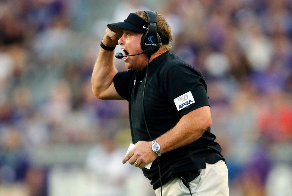 TCU Horned Frogs head coach Gary Patterson yells to his players during the first quarter during their game against the Arkansas-Pine Bluff Golden Lions at Amon G. Carter Stadium in Fort Worth Texas, Saturday, August 31, 2019. (Tom Fox/The Dallas Morning News)