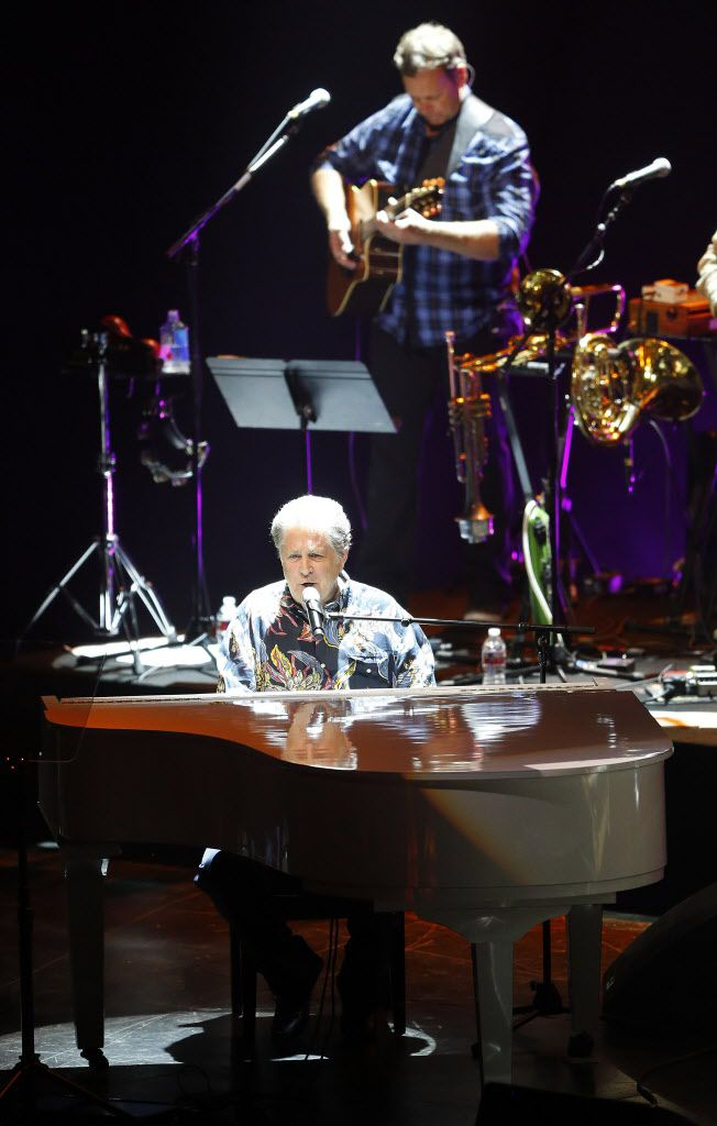 Beach Boys founding member Brian Wilson plays the piano as he performs at Verizon Theatre in Grand Prairie, Texas, Wednesday, June 24, 2015.