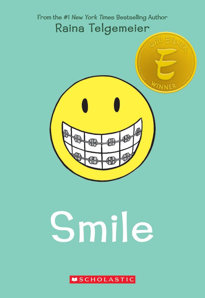 Smile, detailing five years of dental work, was the debut memoir from graphic novelist Raina Telgemeier.