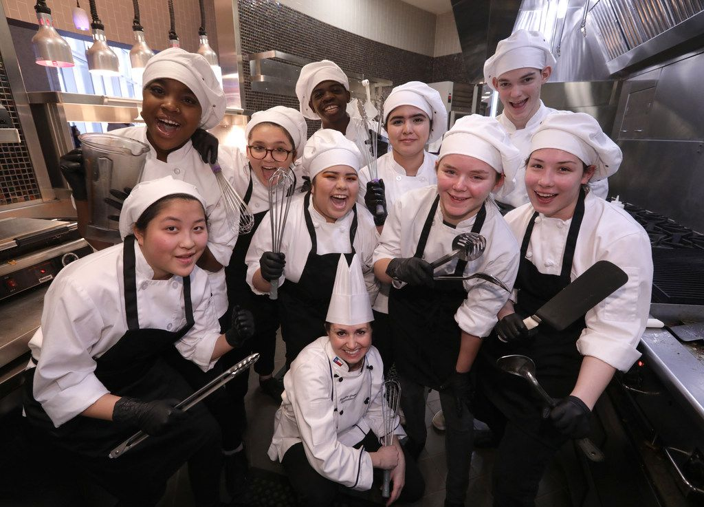Executive chef Annie Greenslade and her students run Blu Community Bistro at Allen High School in Allen.