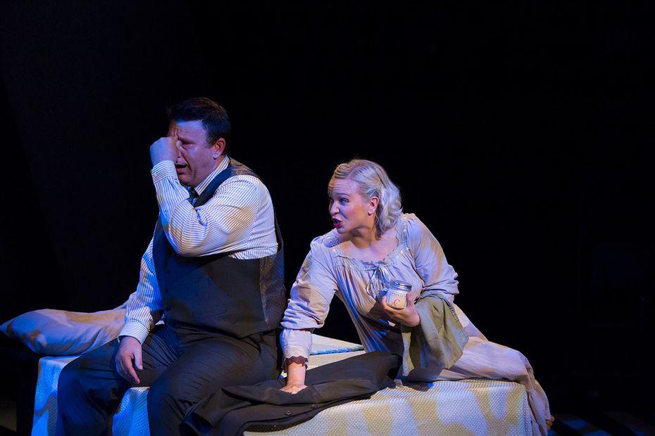Thomas Ward as Mr. Zero and Jeni Roller as Mrs. Zero in  Adding Machine: A Musical