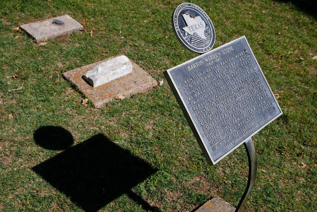 Barton Warren Stone's headstone isn't lost. It's buried beneath Dallas City Hall.