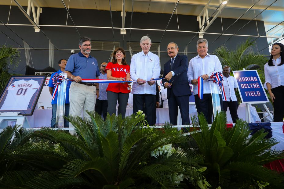 A ribbon-cutting ceremony is hosted at the opening of the Texas Rangers' new $12.5 million baseball academy located in Boca Chica, Dominican Republic. (Kelly Gavin/Texas Rangers Baseball Club)