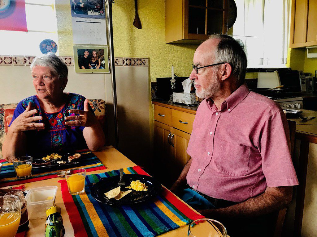 Barbara Hildt and husband Allan MacGregor, a retiree from Massachusetts, share their thoughts at their home in Ajijic, Mexico, on the August 2, 2019,  El Paso massacre and how it is adding to tensions between Mexicans and Americans. Photo taken Sunday, August 11, 2019.