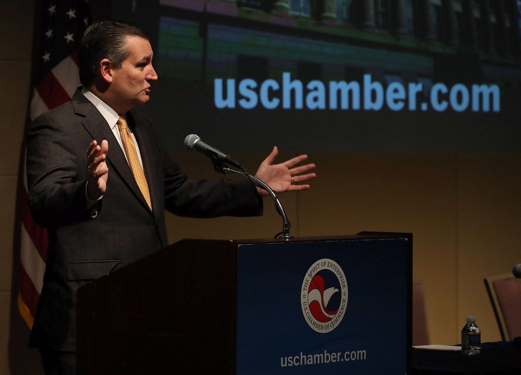 Sen. Ted Cruz speaks about the future of NAFTA at the U.S. Chamber of Commerce on Oct. 31, 2017 in Washington.