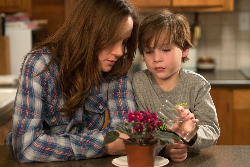 """In this image released by A24 Films,  Brie Larson, left, and Jacob Tremblay appear in a scene from """"Room."""""""