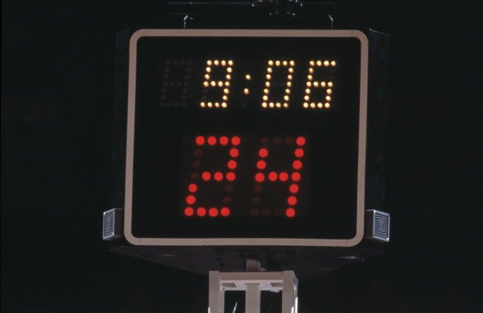 The UIL follows NFHS rules, which is why a shot clock has not been mandatory for high school basketball.