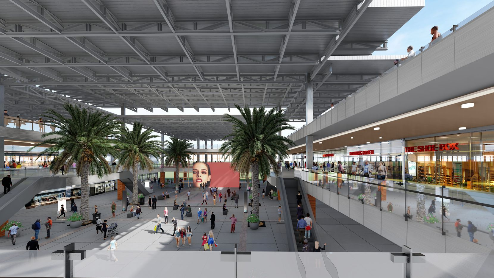 Parts of the old mall will be opened up and converted into a retail atrium.