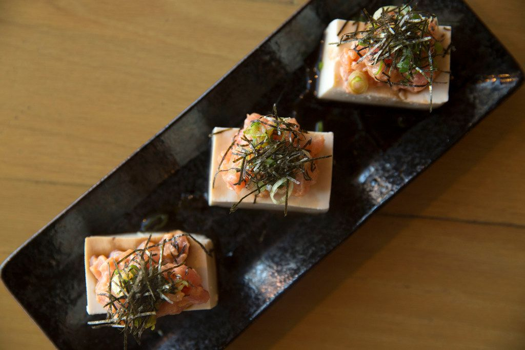 Spicy maguro tofu