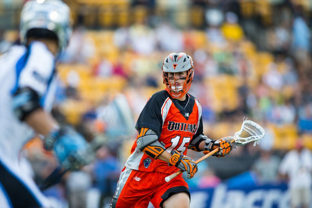 Championship game MVP Eric Law and the Denver Outlaws beat the Ohio Machine 19-18 in last year's Major League Lacrosse Championship in Kennesaw, Ga.  The teams meet again for the 2017 championship in Frisco. Aug 20, 2016; Kennesaw, GA, USA; Denver Outlaws XXX against the Ohio Machine in the first half of the Major League Lacrosse Championship game at Fifth Third Bank Stadium. Mandatory Credit: Brett Davis