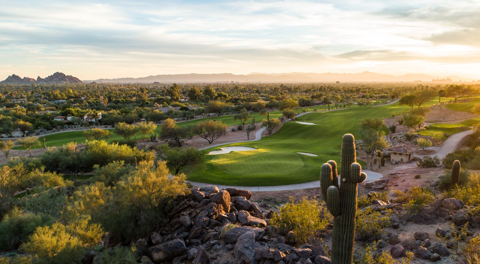 Hole 15 offers a panoramic view at The Phoenician, which is among the Phoenix-area hotels that have recently undergone major renovation projects.