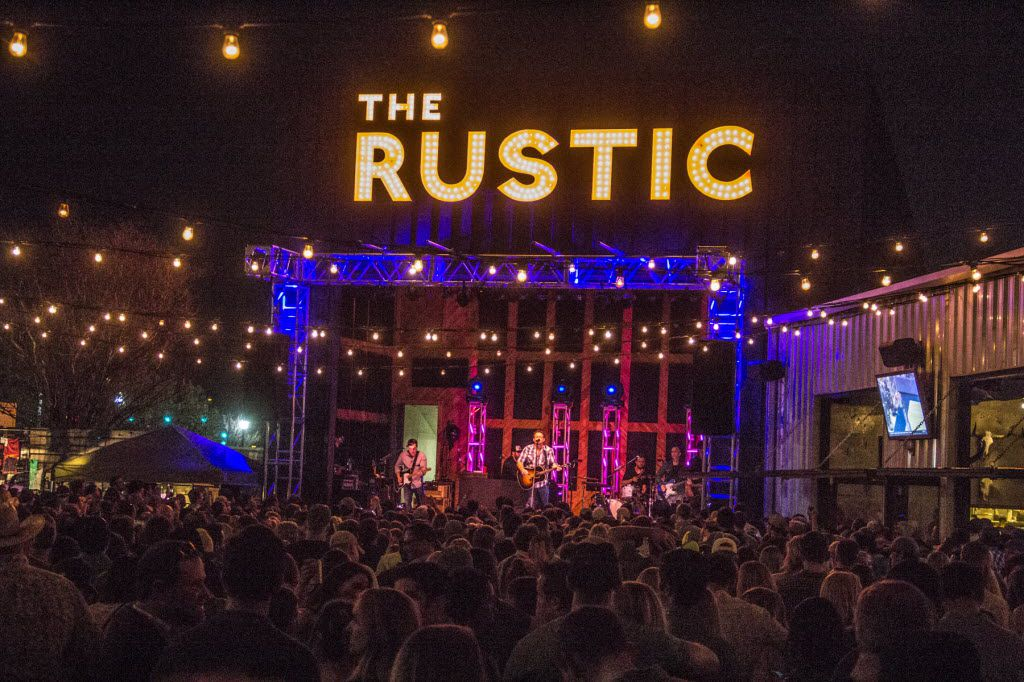 The Rustic is a Dallas music venue, restaurant and bar. It'll be featured on 'Burgers, Brew & 'Que' on Cooking Channel on Nov. 6, 2018