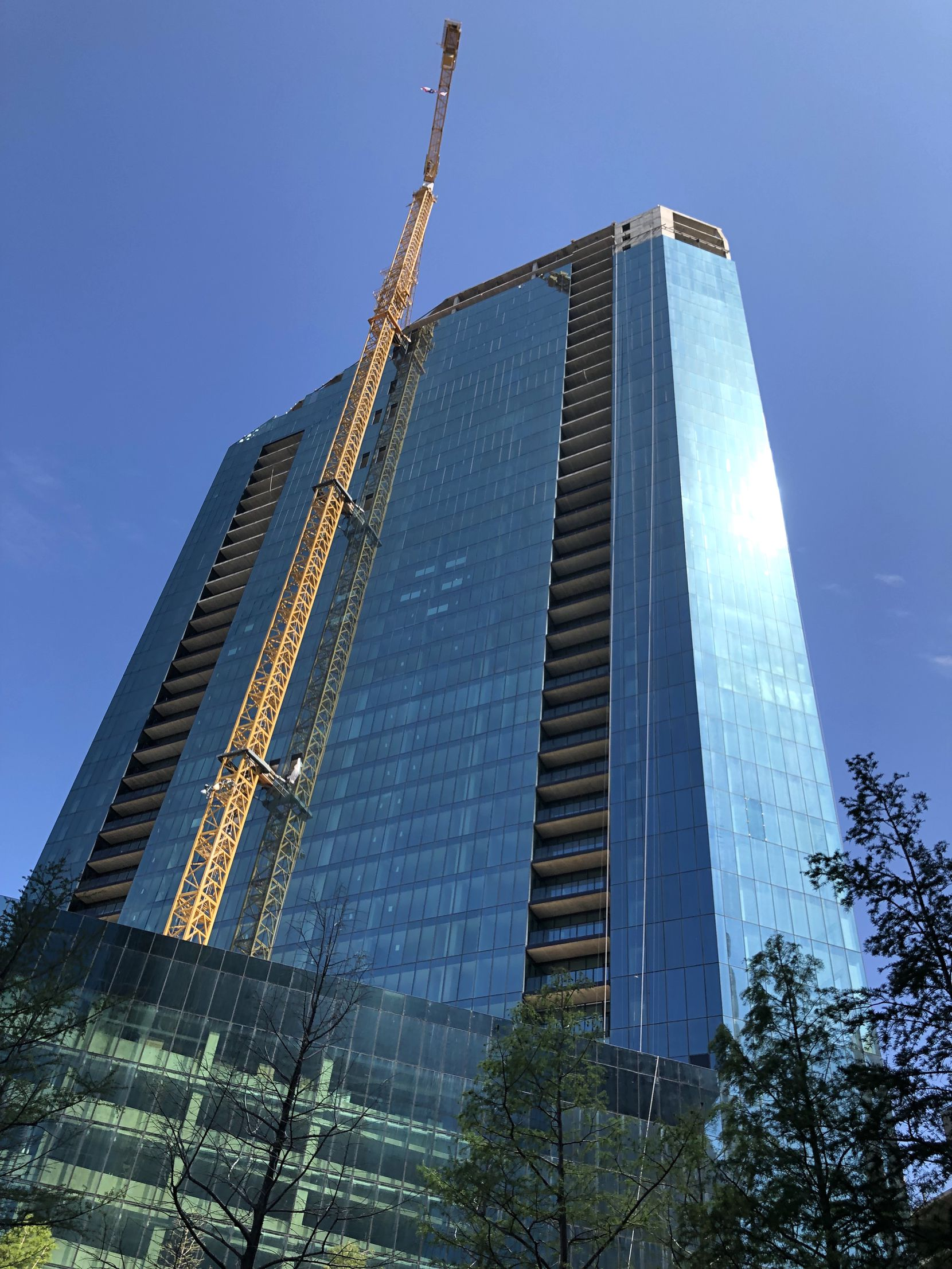 The first apartments in the tower will open in March.