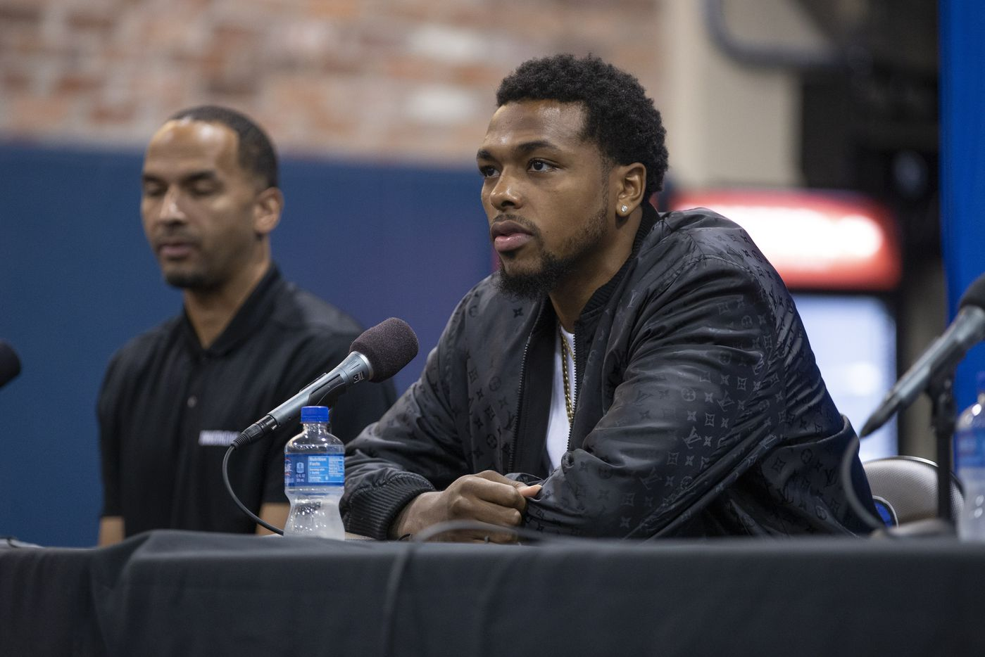 Dallas Mavericks forward Sterling Brown speaks during a press conference in Dallas, Friday, August 27, 2021. (Brandon Wade/Special Contributor)