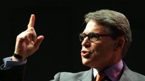 Former Gov. Rick Perry speaks at an Iowa Faith & Freedom event in Waukee, Iowa, April 25. (AP Photo/Nati Harnik)