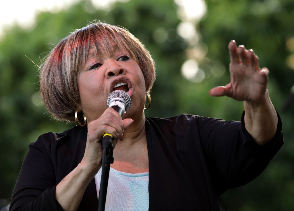 Mavis Staples performs during the Old97's County Fair at Main Street Garden in Dallas, TX, on Apr. 8, 2017. (Jason Janik/Special Contributor)