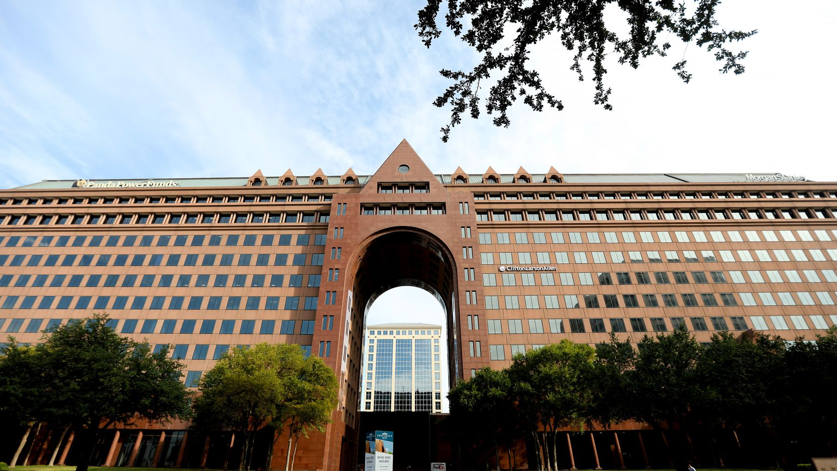 Providence Towers on the Dallas North Tollway is the latest high-profile area office property up for grabs.