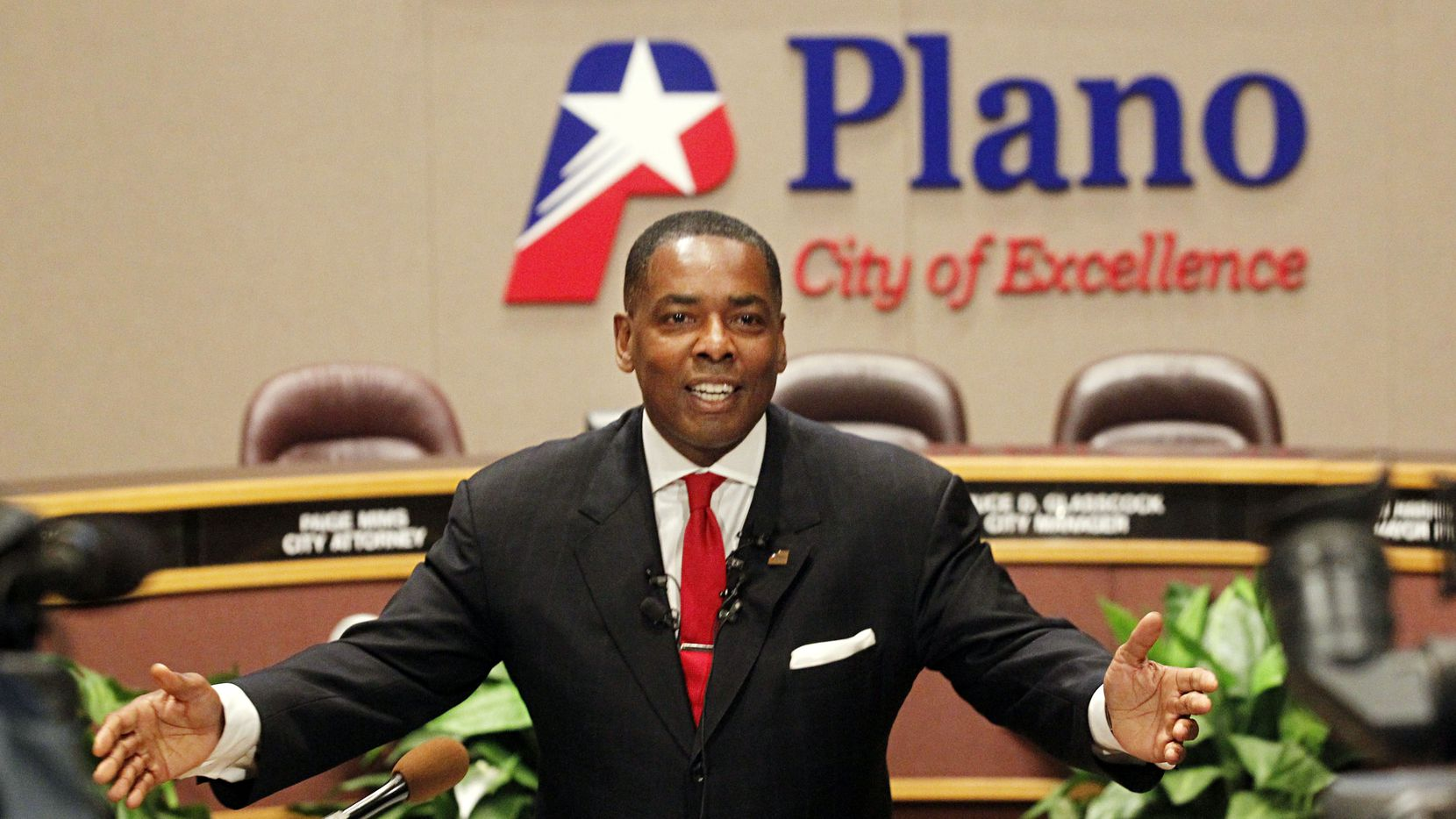 Plano Mayor Harold LaRosiliere talks during an economic development announcement in this file photo.