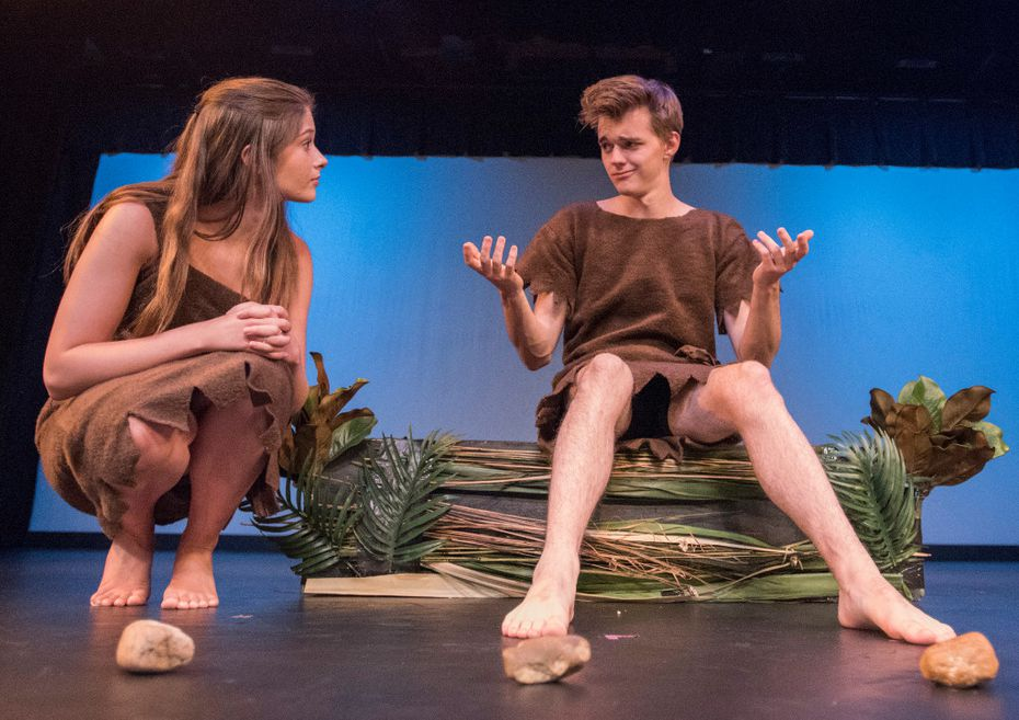 Ashleigh Smith and Chris Rodenbaugh star in The Caveman Play, a production from The Basement at the Festival of Independent Theatres. (Robert W. Hart/Special Contributor)