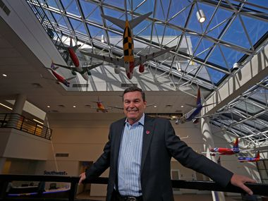 Tom Nealon, new president of Southwest Airlines, poses for a photograph at the carrier's headquarters in Dallas, Thursday, April 6, 2017. (Jae S. Lee/The Dallas Morning News)