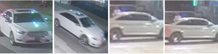 Dallas police released these surveillance-video images of a vehicle sought in connection with the fatal shooting of 19-year-old SMU student Robert Urrea early Saturday morning, Oct. 31, 2020.