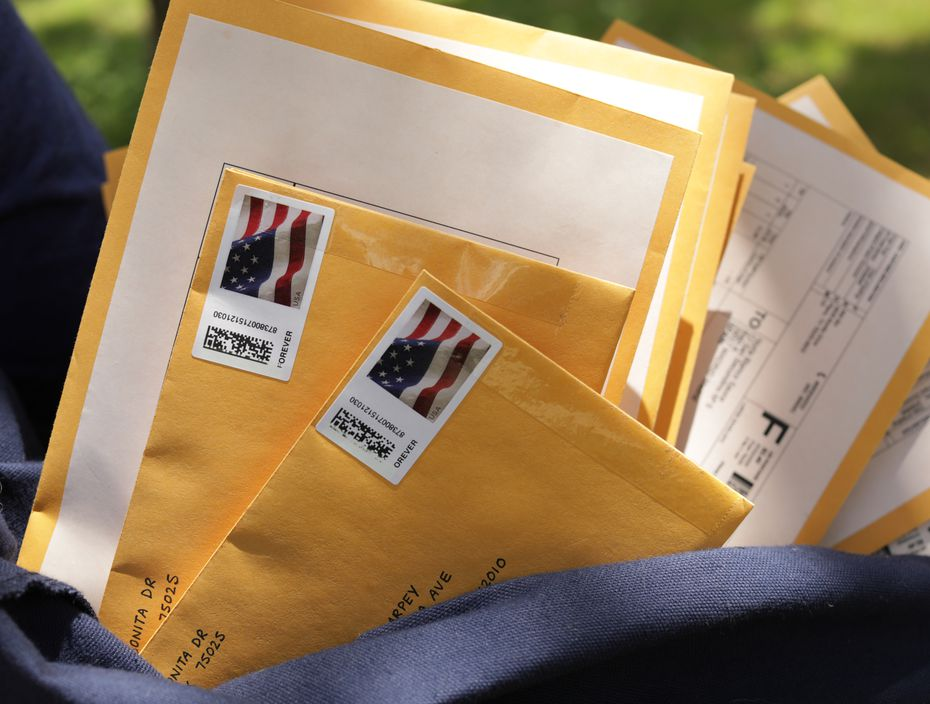 Plano artist Susan Bin routinely uses USPS to send packages to customers.  The Postal Service has seen an explosion of home deliveries during the pandemics, largely offsetting huge drops in marketing and first-class mail.