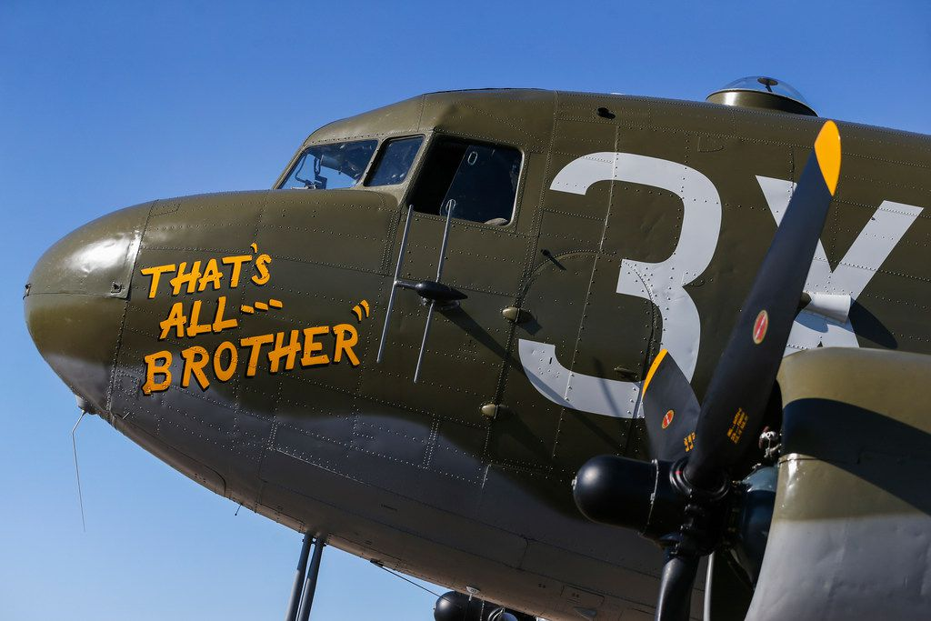 That's All, Brother, a C-47 airplane that led 800-plus aircraft dropping more than 13,000 paratroopers behind enemy lines in Normandy in advance of D-Day.