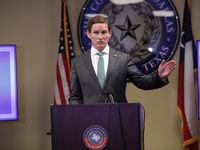 Judge Clay Jenkins speaks during a press conference in Dallas, TX, on Jul. 24, 2020.  Jason Janik (special contributor)
