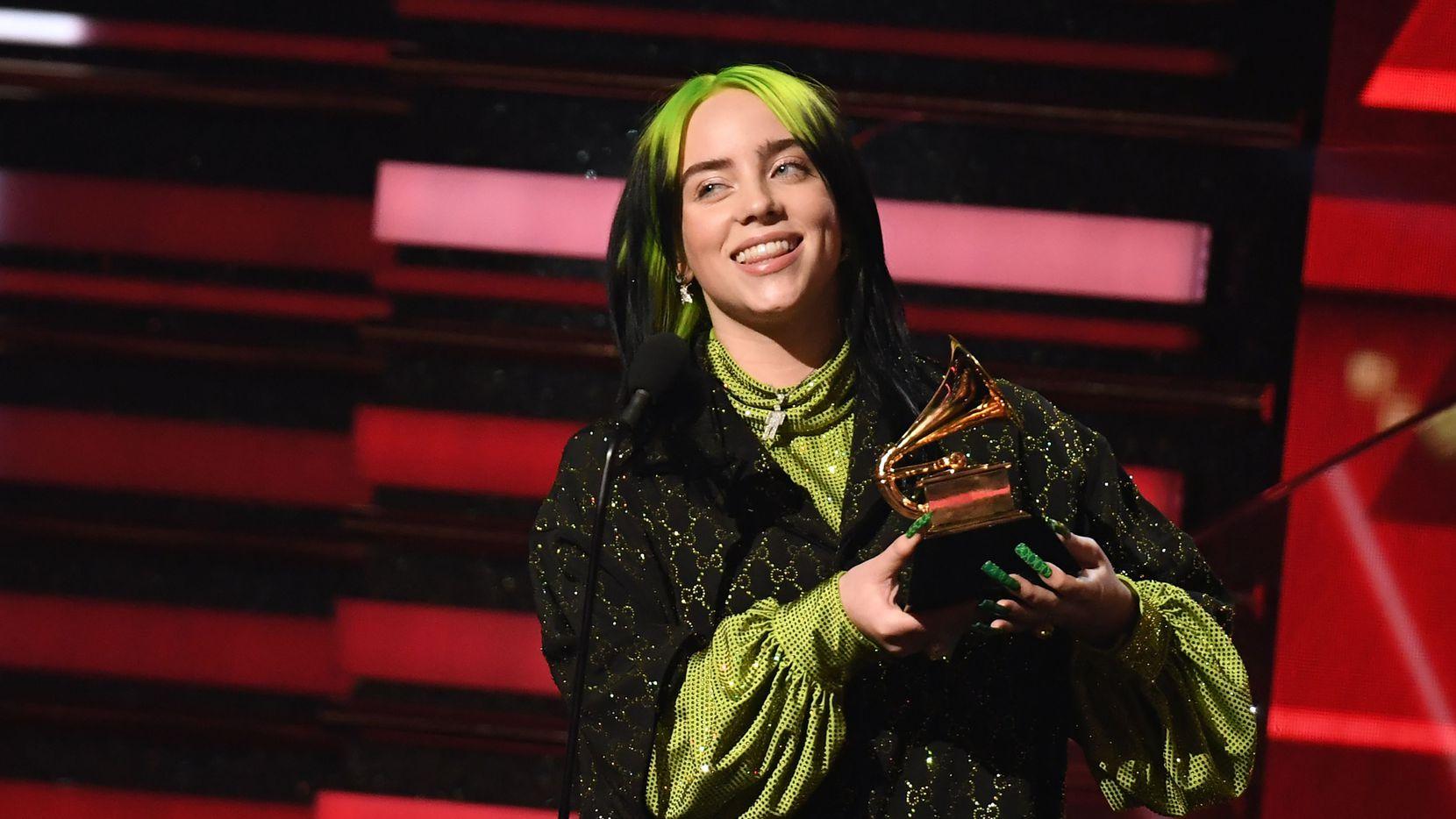 Billie Eilish ganó en la categoría de Mejor Artista Nueva, durante la 62 ceremonia de entrega de premios Grammy, el 26 de enero de 2020 en Los Ángeles.