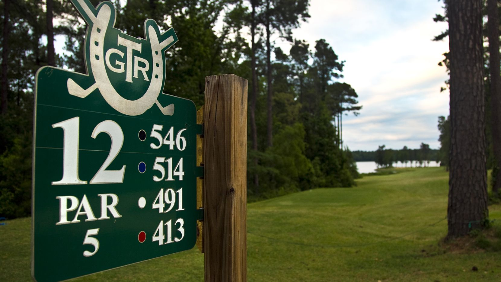 Hole 12 marker at Texarkana Golf Ranch.