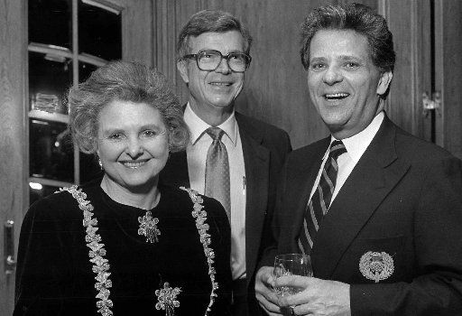 From left: Caroline Rose Hunt, Charles Simmons and Victor Costa are shown in 1989.