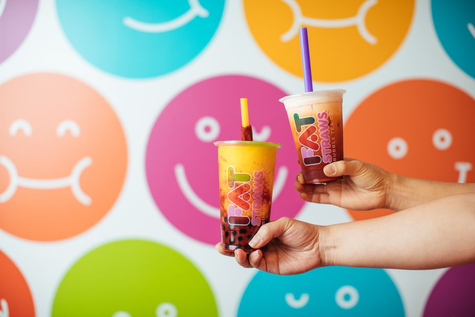 Fat Straws is named for its oversized straws, used to slurp up tapioca bubbles or jellies in its drinks.