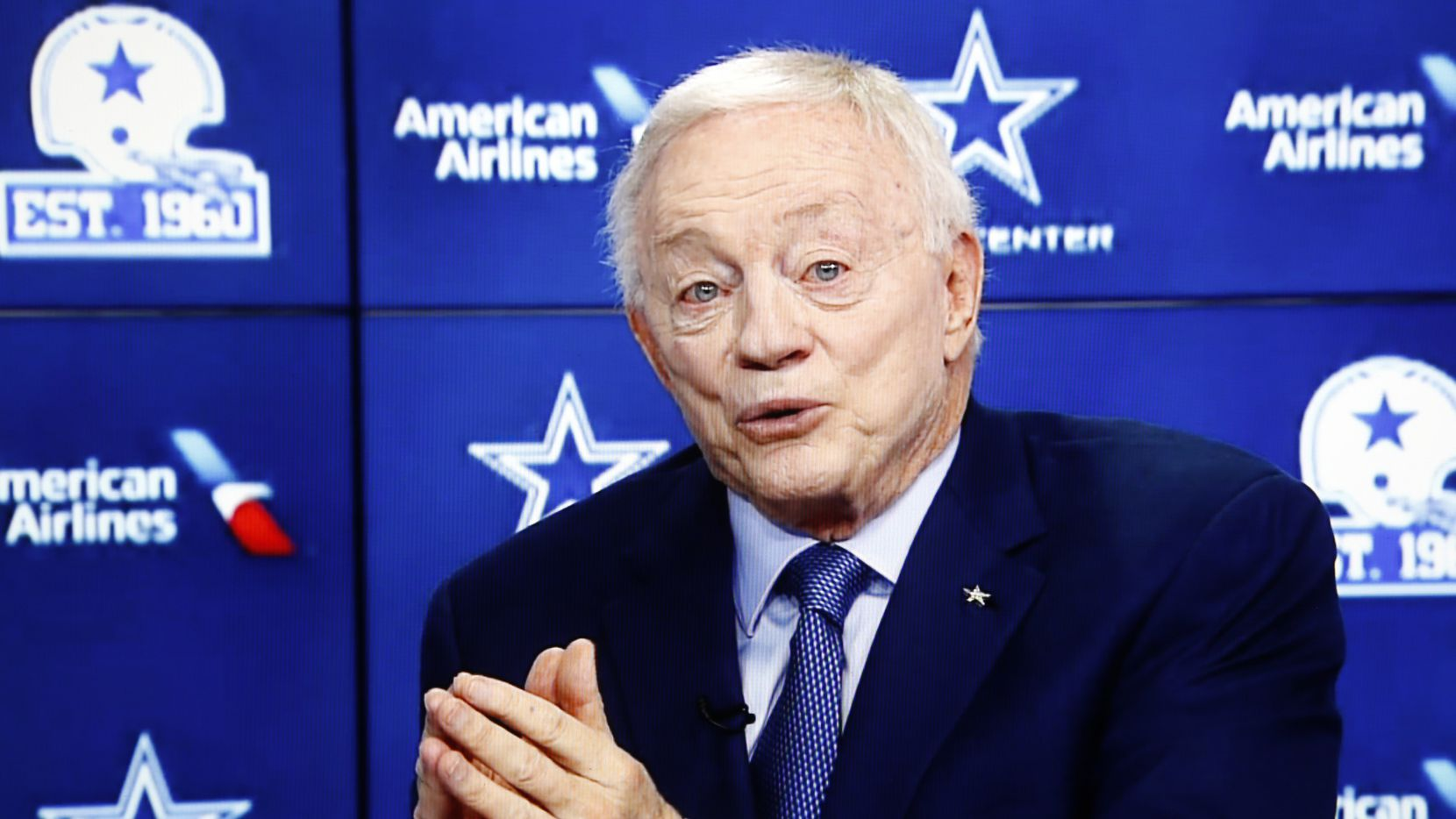 Dallas Cowboys owner and general manager Jerry Jones speaks during the annual state of the team news conference conducted virtually on Wednesday, August 12, 2020.