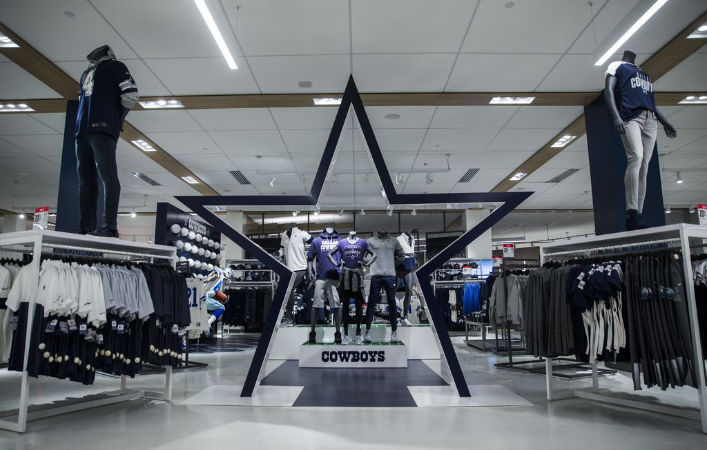 A Dallas Cowboys apparel area inside a JCPenney store on Wednesday, October 30, 2019 at North East Mall in Hurst. (Ashley Landis/The Dallas Morning News)